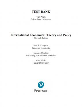 (Test Bank)International Economics Theory and Policy 11th Edition by Krugman.zip
